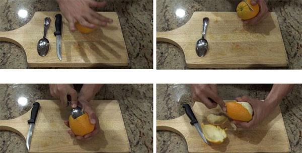 روش پوست گرفتن پرتقال
