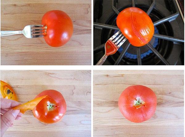روش پوست گرفتن گوجه فرنگی