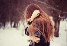 دانلود عکس دختر عاشق غمگین و تنها در برف
