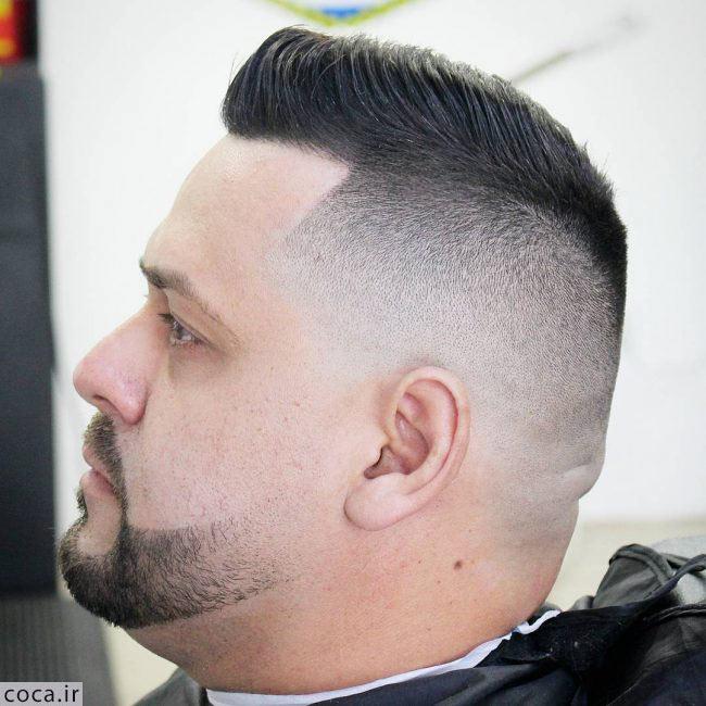 مدل خط ریش و مو برای صورت های گرد و بزرگ