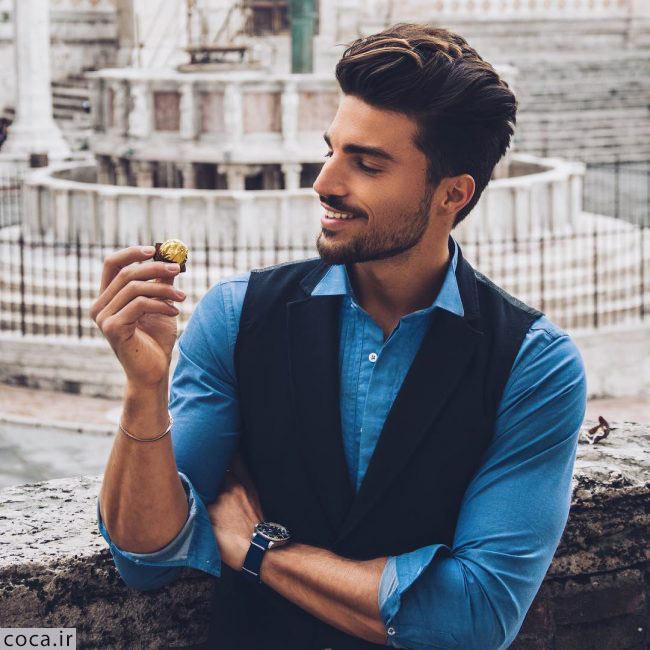 مدل ریش کوتاه مردانه با موی بلند