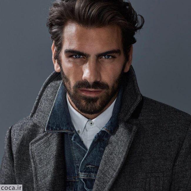 مدل ریش کوتاه مردانه با موی حالت دار