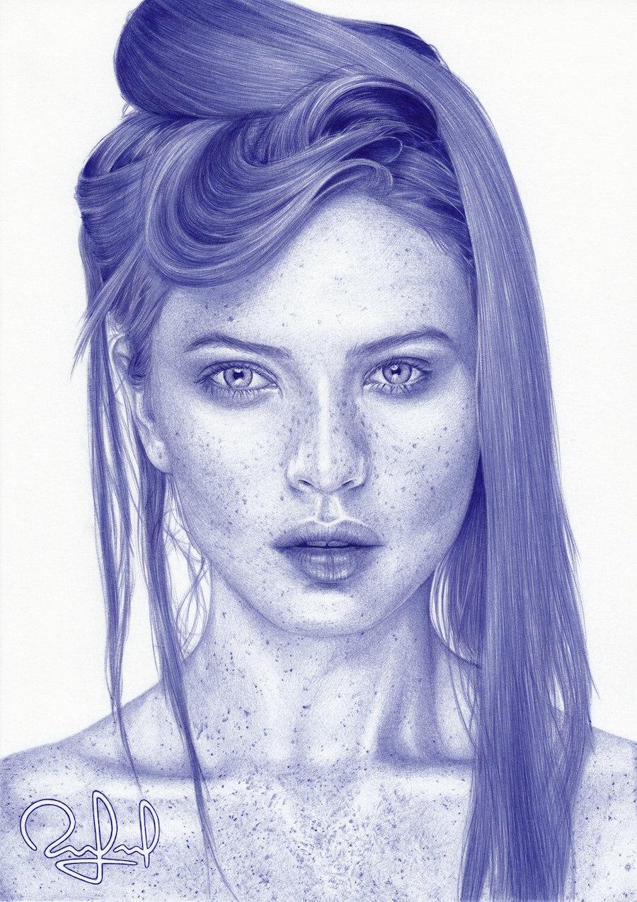 نقاشی زن زیبا