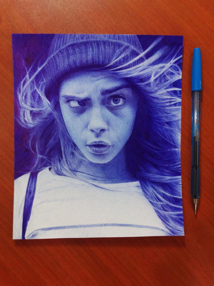 نقاشی دختر زیبا