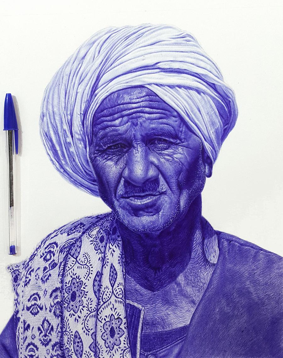 نقاشی باورنکردنی و دیدنی با خودکار