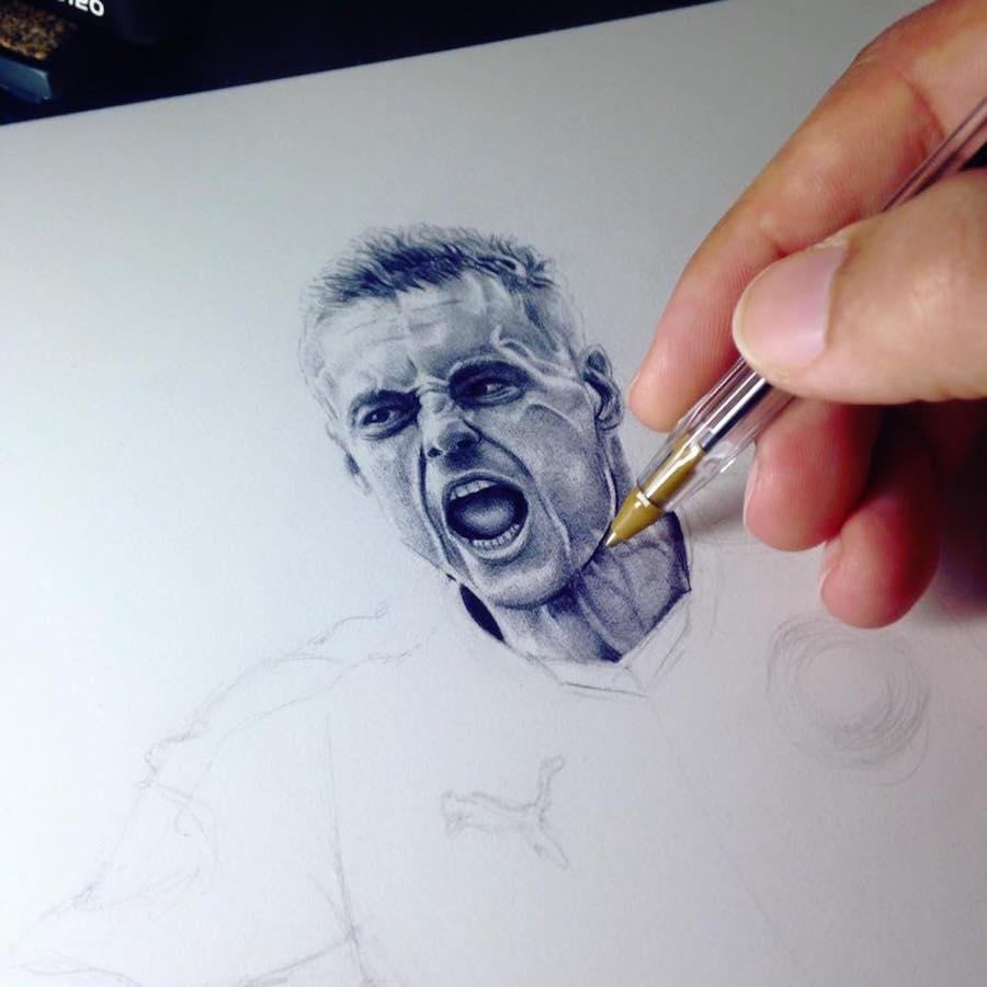 نقاشی با خودکار بیک