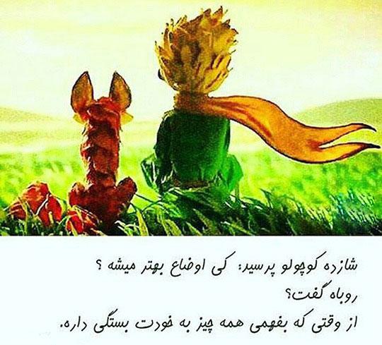 عکس نوشته شازده کوچولو و روباه