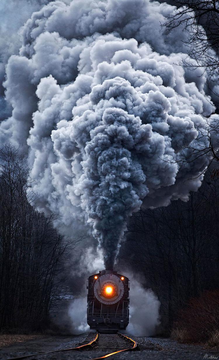 عکس دود قطار