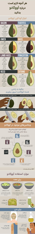 خواص و فواید جادویی میوه آووکادو برای لاغری، پوست و مو و سلامتی بدن