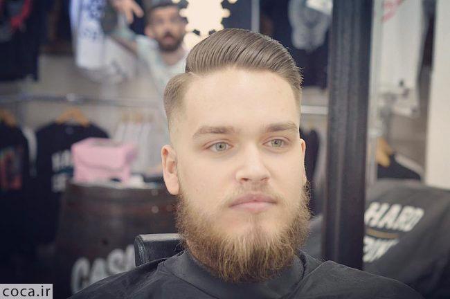 مدل ریش بلند برای صورت تپل