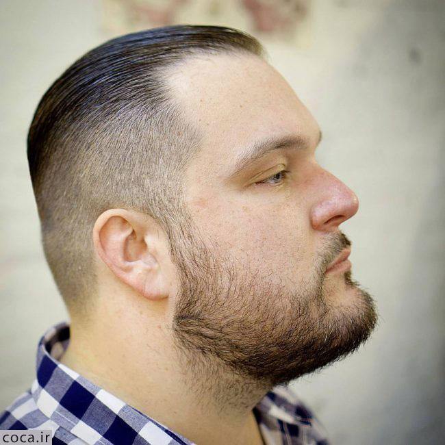 مدل مو دور کوتاه با ریش