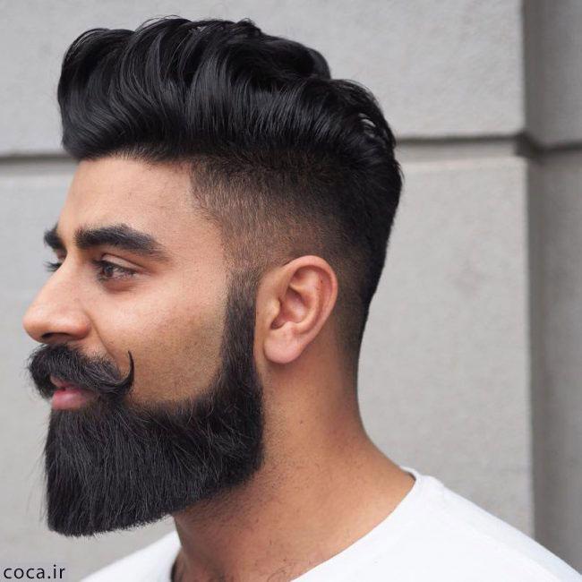 مدل خط ریش بلند با موی بلند