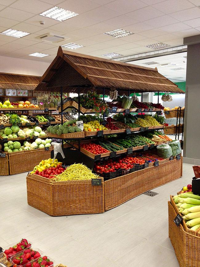 دیزاین دالخی مغازه میوه و سبزیجات فروشی