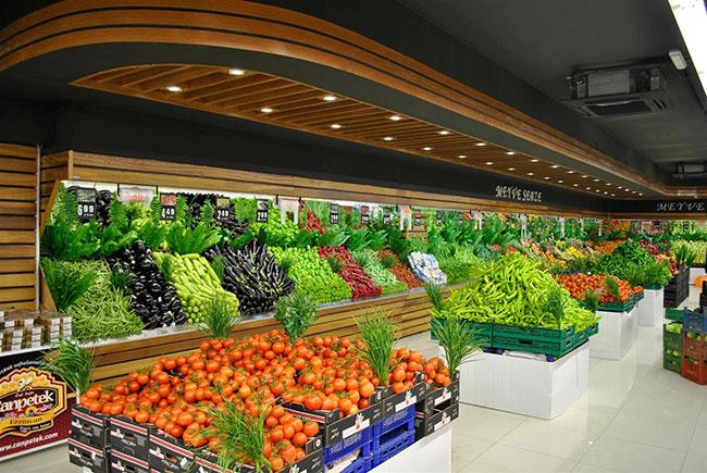 دکوراسیون مغازه میوه فروشی و سبزیجات
