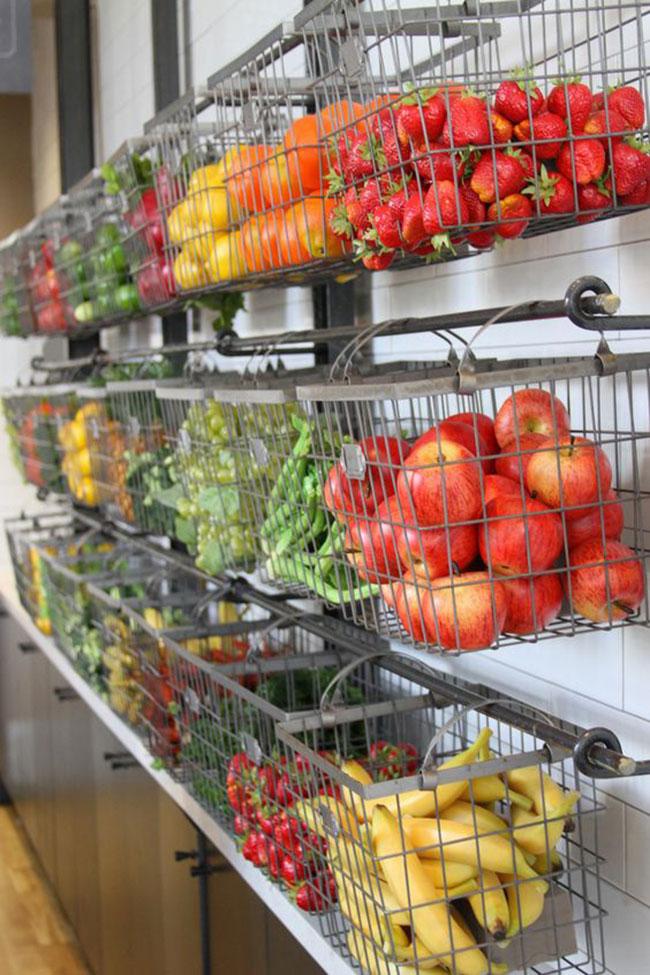 دیزاین قفسه میوه و سبزیجات