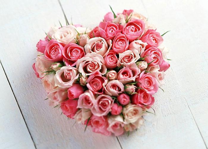 عکس دسته گل عاشقانه , عکس گل رز سفید و صورتی