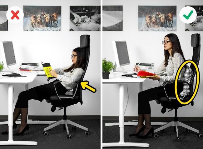 ارگونومی نشستن صحیح و درست روی صندلی