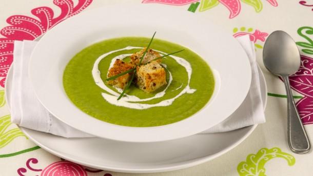 تزیین سوپ مارچوبه , دستور پخت سوپ مارچوبه