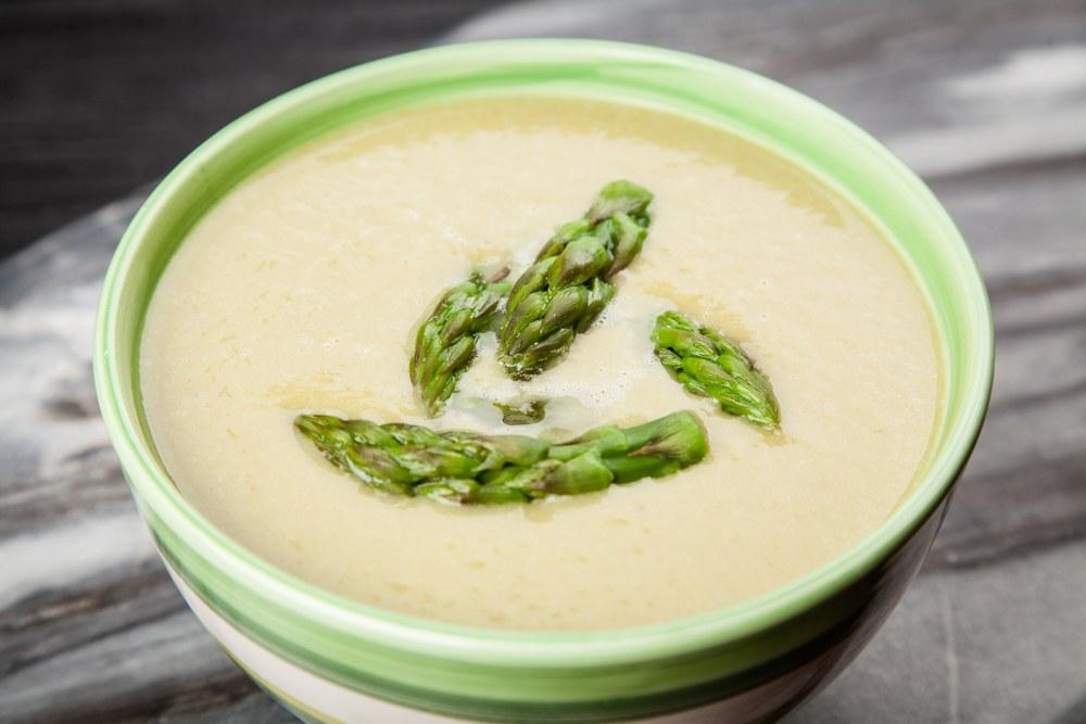 تزیین سوپ مارچوبه , درست کردن سوپ مارچوبه