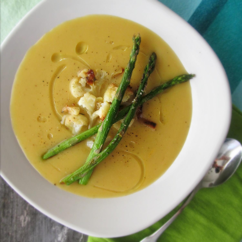 تزیین سوپ مارچوبه , سوپ کرمی مارچوبه