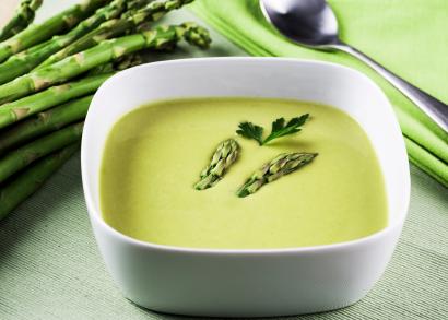 تزیین سوپ مارچوبه , سوپ مارچوبه سفید