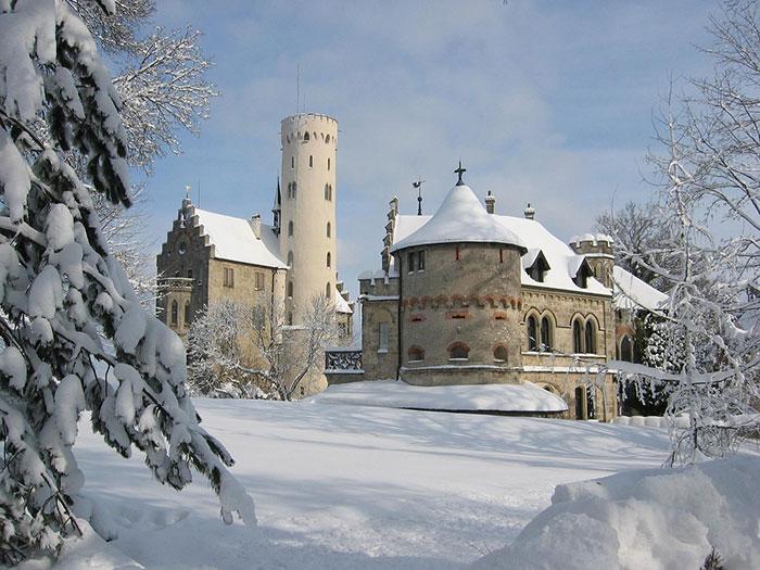 عکس طبیعت زمستانی لیختن اشتاین