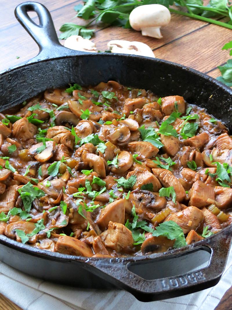 تزیین خورش قارچ , خورش قارچ بدون گوشت