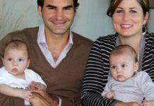 راجر فدرر و همسر و فرزندانش
