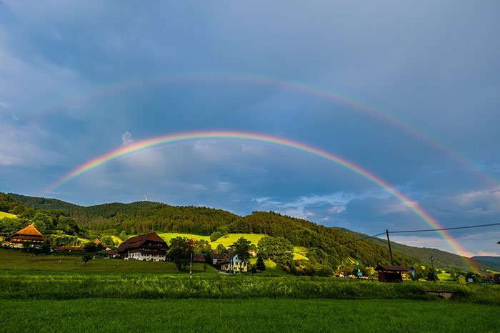 عکس رنگین کمان در طبیعت