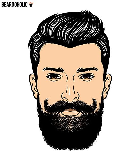 مدل ریش بلند برای صورت مستطیل