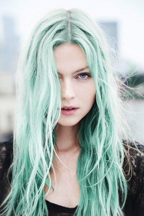 رنگ موی پاستیلی سبز
