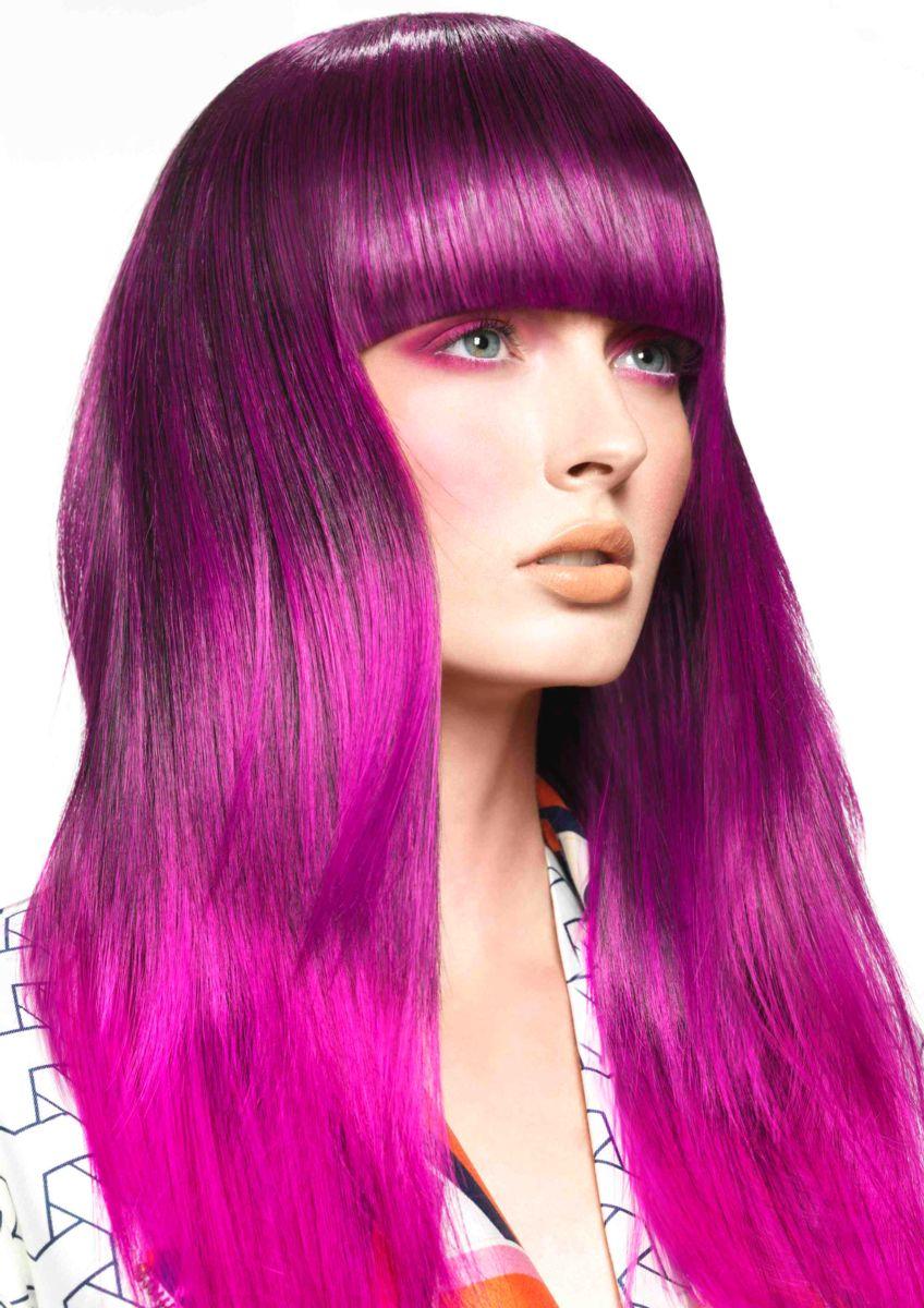رنگ مو بنفش روشن