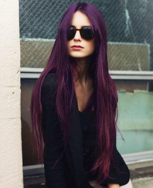 رنگ مو بنفش بادمجانی