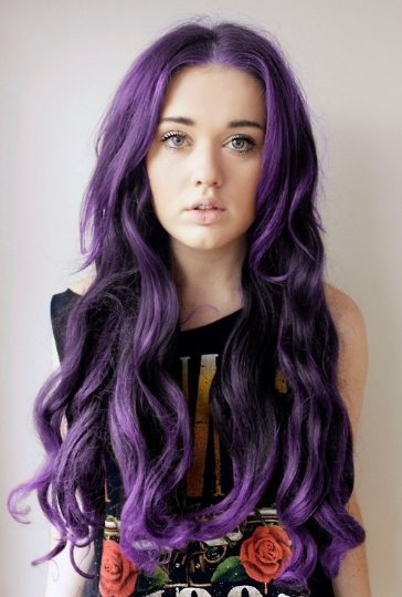 رنگ موی بنفش آبی