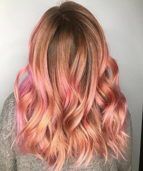 رنگ مو رز گلد