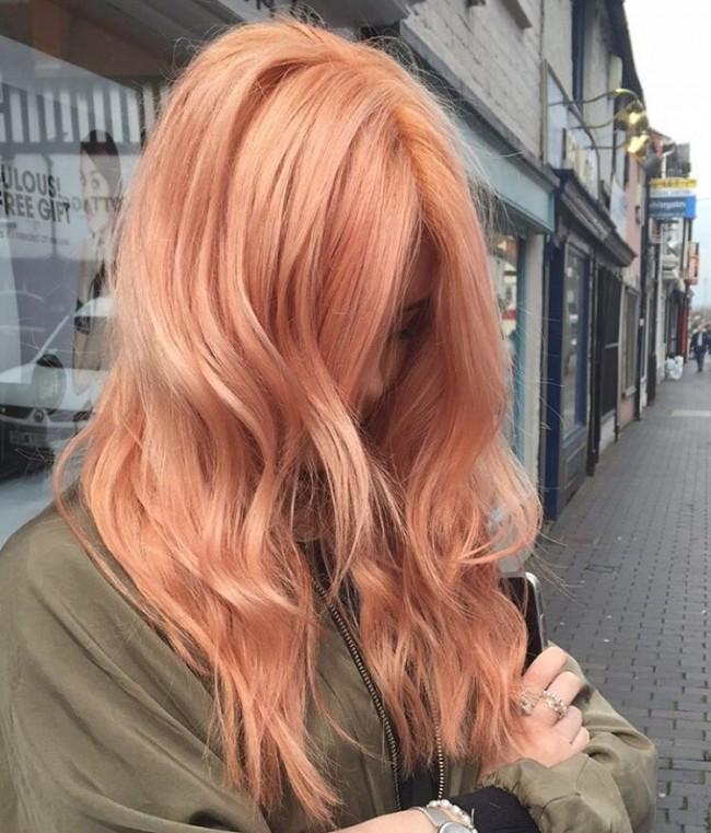 رنگ مو رز گلد بدون دکلره , رنگ موی رز گلد