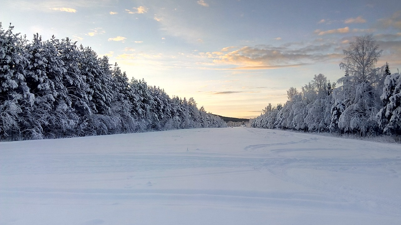 مناظر زمستانی سوئد