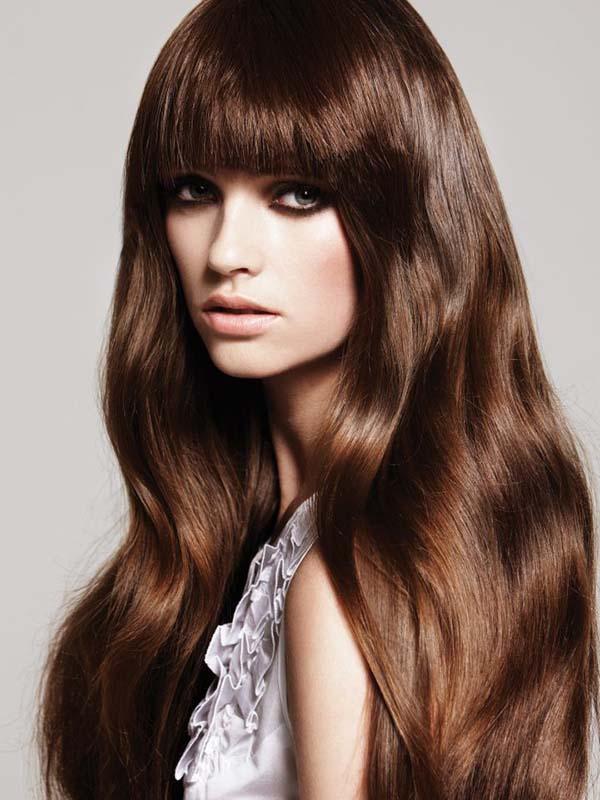مدل رنگ موی فندوقی تیره