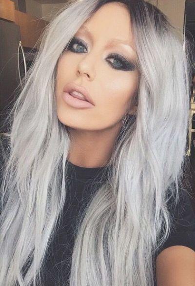 رنگ موی دودی نقره ای , مدل و عکس