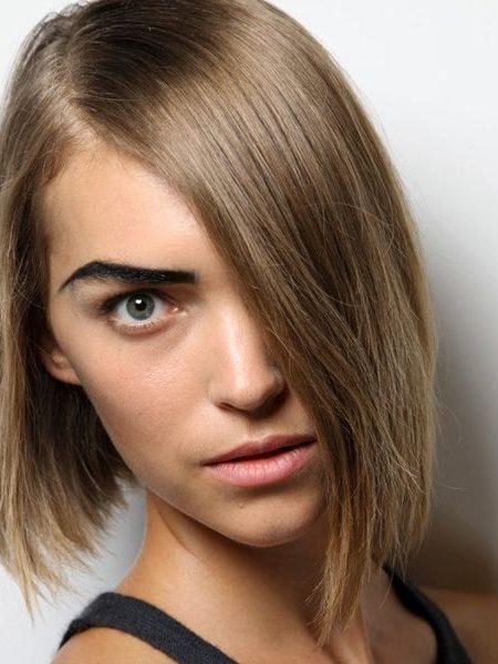 مدل رنگ موی دودی زیتونی