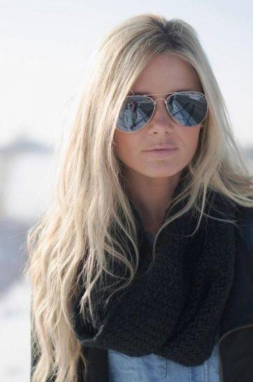 عکس رنگ موی کنفی کاراملی سرد