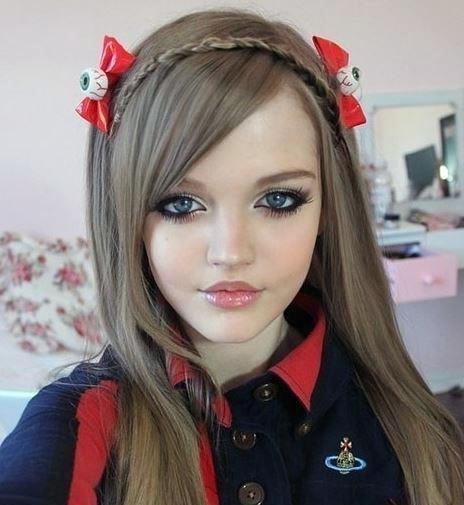 مدل رنگ موی کنفی عروسکی