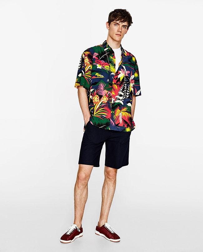 مدل پیراهن ساحلی گلدار با شلوارک