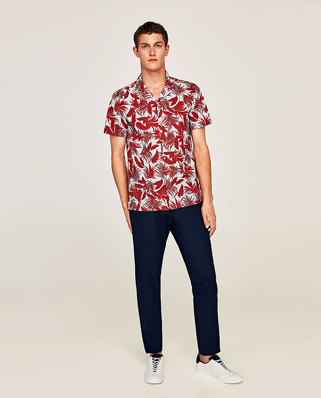 مدل پیراهن گلدار مردانه