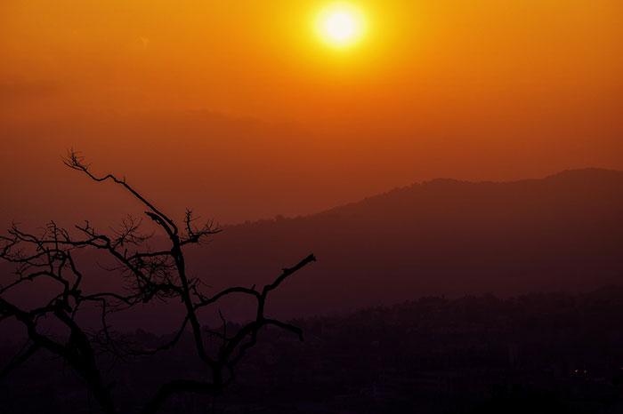 عکس ضد نور غروب خورشید