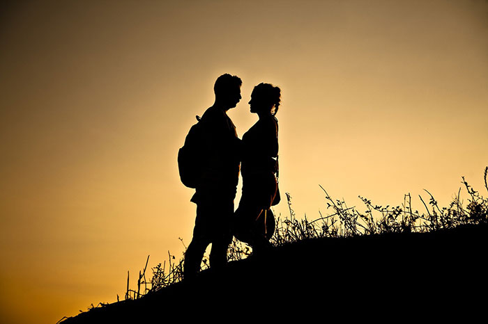 عکس عاشقانه با تکنیک ضد نور