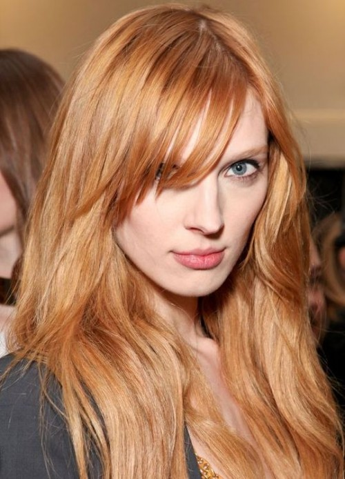 رنگ موی بلوند توت فرنگی , عکس و مدل