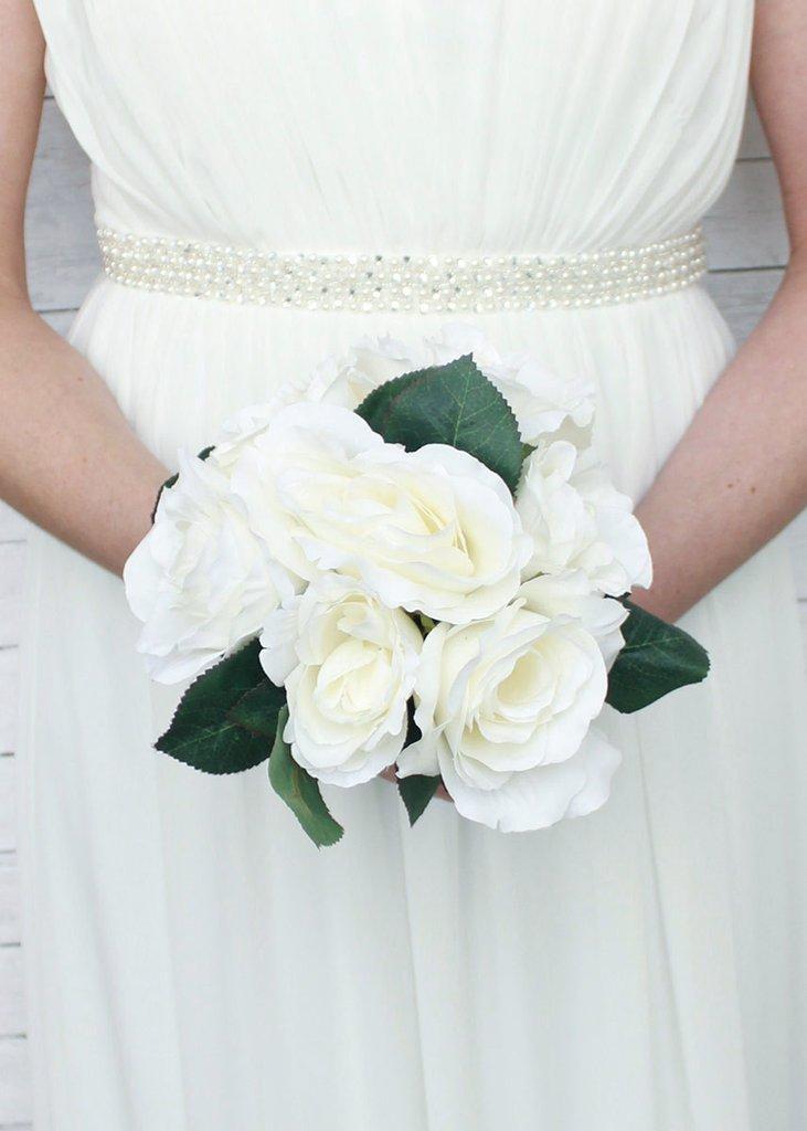 عکس دسته گل عروس رز سفید