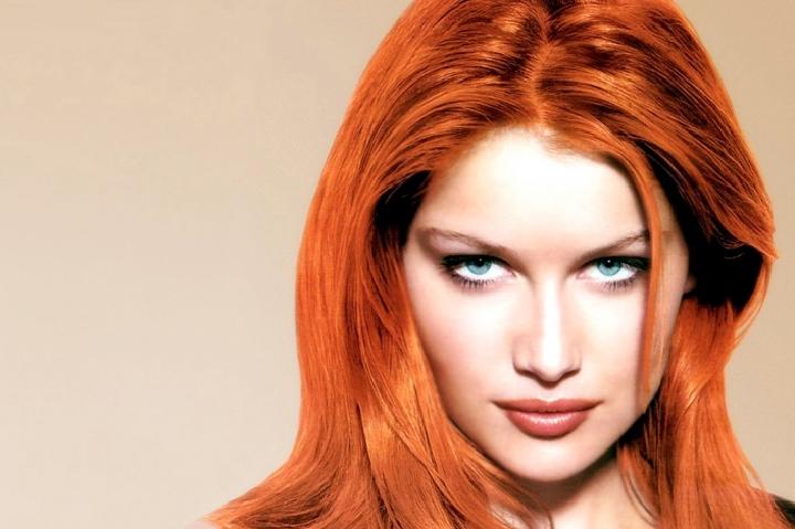 مدل رنگ موی مسی نارنجی