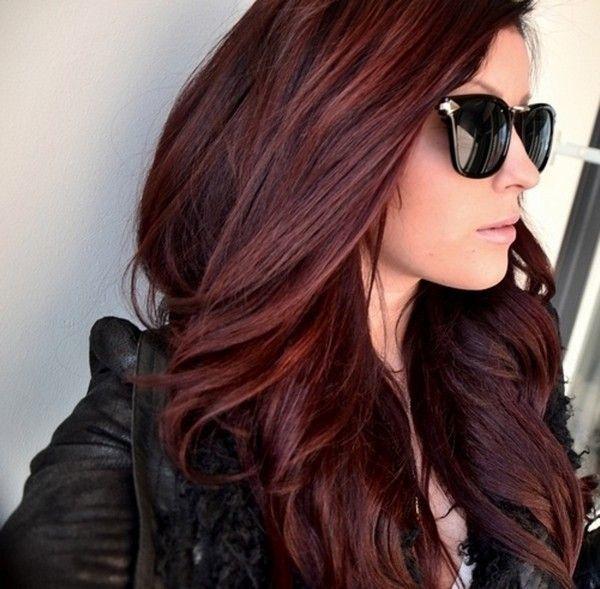 عکس رنگ موی ماهاگونی متوسط